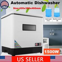 Stainless Steel Kitchen Automatic Dishwasher Compact Design For 6 Set Meal 1 5KW