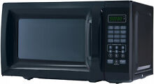 Black Microwave Cooking Dorm College Supplies Garage Office Boat RV Appliance