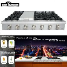 THOR 48  Gas Rangetop Cooktop 18 000BTU stainless steel Stove Griddle HRT4806U