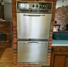 VTG Retro Mid Century GE Electric Dual Double Wall Oven Unit Working Read PLS