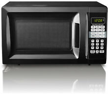 Black Microwave Oven Small Basic Cooking Heating Apt Home Dorm Office 0 7 CuFt