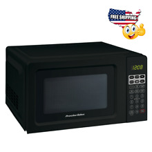 Black Digital Countertop Microwave Oven Dorm Room Office 700W Small Compact Mini
