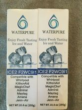 2 Pack Waterpure Ice Maker Water Filter  Compatible With Whirlpoo F2WC9I1 ICE2