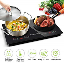 2200W Electric Stove Portable Induction Cooktop Digital Touch Sensor Cooker