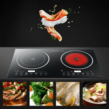 Electric Dual Induction Cooker Cooktop Double Hot Plate Cooking Burner 1200W 2