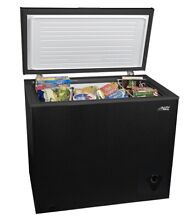 Arctic King 7 Cu Ft Chest Freezer with Removable Storage Basket Thermostat Black