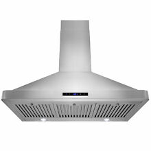 AKDY 36  European Stainless Steel Wall Mount Range Hood LED Lights Touch Control