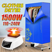 110 240V 1500W Foldable Electric Clothing Dryer Home Clothes Drying Portable
