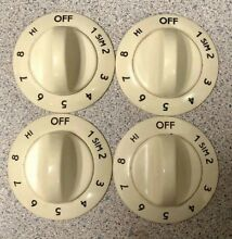 PN  318016304 Frigidaire Range Burner Knobs   Set Of 4  Almond
