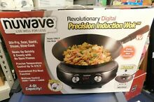 NuWave Mosaic Precision Induction Cooktop with Carbon Steel 4 Quart Wok BrandNew
