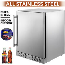 Built in All Stainless Steel Beverage Cooler 5 5 cu ft Outdoor Refrigerator