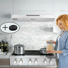 Under Cabinet 30  Stainless Steel Range Hood Kitchen Vent Touch Control 350 CFM