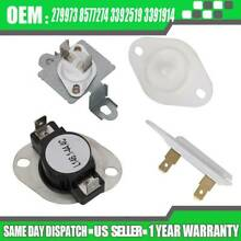 SET FOR WHIRLPOOL DUET DRYER THERMOSTAT FUSE KIT 279973 8577274 3392519 3391914