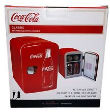 Coca Cola Classic Thermoelectric Cooler  Holds 6 12oz Cans  120v Or 12v  NEW