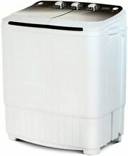Portable Washing Machine 16 5lbs Compact Twin Tub Wash   Spin Combo