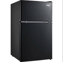 3 2 Cu Ft Mini Fridge Freezer 2 Door Compact Refrigerator Black Stainless Steel