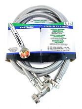 Eastman 41065 Washing Machine Hoses with 90 Degree Elbows  Water Supply Lines