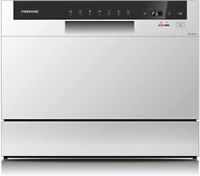 Farberware Professional FCD06ABBWHA Compact Portable Countertop Dishwasher With