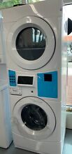 White Commercial Laundry Center with 3 1 cu  ft  Washer and 6 7 cu  ft  240 Volt