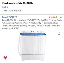 Portable Mini Compact Twin Tub 17 6 LBS Washing Machine Washer Spain Spinner