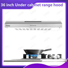 36 Inch Stainless Steel Cabinet Base Kitchen Range Hood Silver Button Vent New