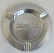 Vintage Western Holly Automatic Gas Range Metal Ash Tray Ashtray Stainless Steel