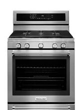KitchenAid Stainless Steel Gas Convention Stove