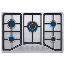 IsEasy 30  Gas Cooktop 5 Burners Built in Stove Stainless Steel 110V Cooker