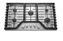 KitchenAid 36 in  Gas Cooktop KCGS356ESS New in Box Stainless Steel