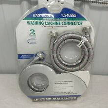 Eastman 2 Pack 6  Hot  Cold Stainless Steel Washing Machine Hoses New In Package