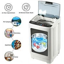 Portable Full automatic Washing Machine 12lb Compact One Tub Washer   Spin Dryer