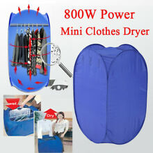 Folding Electric Clothes Dryer 800W Drying Bag Machine Portable Camping Home US