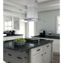 36 inch Island Range Hood 900CFM Three Speed Touch Control Stainless Steel Vent