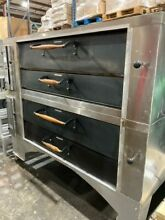 BAKERS PRIDE Y 600 DOUBLE STACK NATURAL GAS PIZZA DECK OVEN