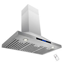 European Stainless Steel 36  Wall Mount Range Hood Stove Vent w  Remote Control