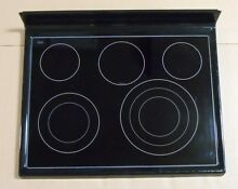 Whirlpool KitchenAid Range Glass Cooktop W10240341 W10292725 BLACK KERS205TBL2