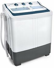 Ivation Small Compact Portable Washing Machine   Twin Tub Washer and Spin Lb