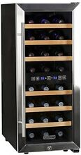 Koldfront 24 Bottle Free Standing Dual Zone Wine Cooler   Black And Stainless