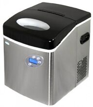 Newair AI 215SS Stainless Steel Portable Ice Maker With 50 Lbs  Daily Capacity