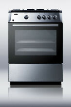 Summit PRO24G 24  Slide in Gas Range with Sealed Burner Cooktop Stainless Steel