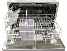 Countertop Dishwasher  Silverware Basket Kitchen Faucet Adapter Automatic Silver