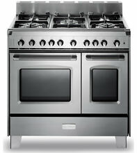 Verona VCLFSGG365DSS 36  Classic Gas Double Oven Range Stainless Steel