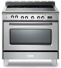 Verona VCLFSEE365SS 36  Classic Electric Stainless Steel Pro Range