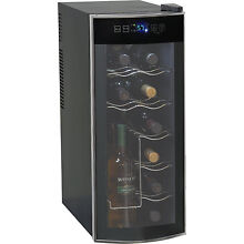 Avanti EWC1201 12 Bottle Thermoelectric Counter Top Wine Cooler Fridge Platinum