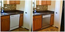Built In Dishwasher Panel Cover Faux Stainless Film Roll 36  x 26