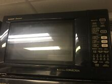 Sharp 1 5 cu ft Counter top Convection Microwave Cooking Black