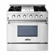 36 gas range 4 burner appliance gas range Stainless Steel HRG3617U Thor kitchen