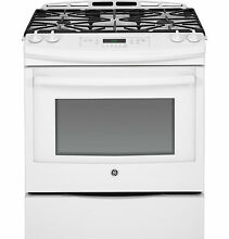 GE 30  Slide In Gas Range  White JGS650DEFWW Power Boil Precise Simmer