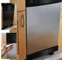 Instant Dishwasher Panel Cover Fake Stainless Steel Film 36  x 26