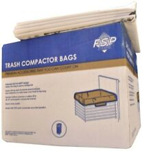 Plastic Compactor Bags 15 in  Trash Compactors Heavy Duty White  60 Pack